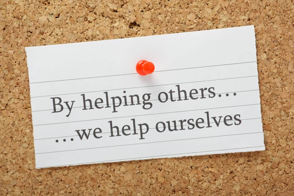 emotional fortitude by giving